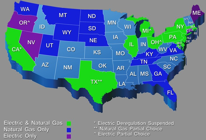 Regulated And Deregulated Energy Markets Explained EnergySMART - Us energy map